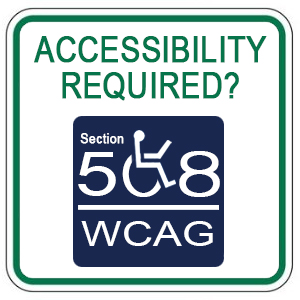 Accessibility Required? Section 508, WCAG